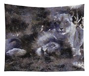 Lions Photo Art 02 Tapestry