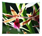 Lit Up Orchid Tapestry