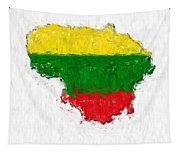 Lithuania Painted Flag Map Tapestry