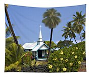 Little Blue Church Kona Tapestry