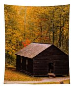 Little Greenbrier Schoolhouse In Autumn  Tapestry
