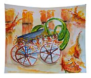Little Harvest Wagon Tapestry