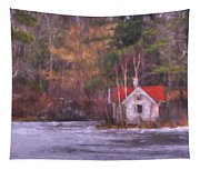 Little House On The Lake Tapestry