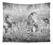 Little Lion Cub Brothers Tapestry
