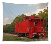 Little Red Caboose Tapestry