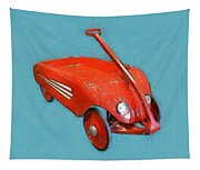 Little Red Wagon Tapestry