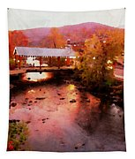 Little River Bridge At Sunset Gatlinburg Tapestry