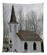 Little White Church Tapestry