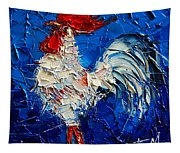 Little White Rooster Tapestry