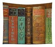 Live-laugh-love-books Tapestry