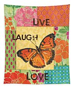 Live Laugh Love Patch Tapestry
