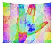 Live Long And Prosper 20150302v1 Color Squares Sq Tapestry