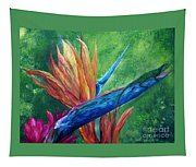 Lizard On Bird Of Paradise Tapestry