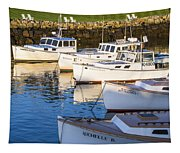 Lobster Boats - Perkins Cove -maine Tapestry