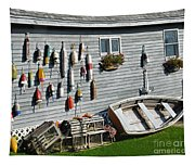 Lobster Pots And Buoys Tapestry