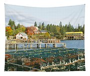 Lobster Village In Autumn, Southwest Tapestry