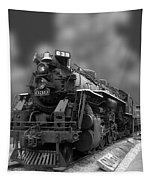Locomotive 639 Type 2 8 2 Front And Side View Bw Tapestry