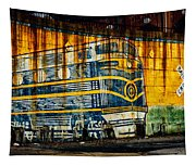 Locomotive On A Wall Tapestry