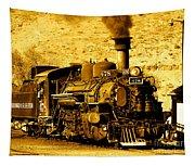 Sepia Locomotive Coal Burning Train Engine   Tapestry