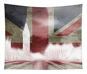 London Big Ben Abstract Tapestry