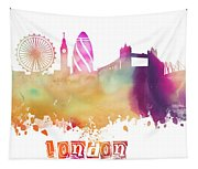 London England Skyline Pastel Tapestry
