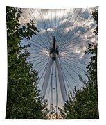London Eye Vertical Panorama Tapestry