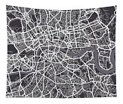 London Map Art Tapestry