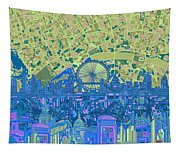 London Skyline Abstract 8 Tapestry