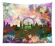 London Skyline Watercolor Tapestry