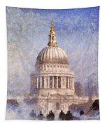 London St Pauls Fog 02 Tapestry