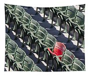 Lone Red Number 21 Fenway Park Tapestry