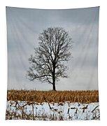 Lone Tree In Winter Tapestry