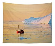 Lonely Boat - Greenland Tapestry