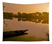 Lonely Boat Tapestry