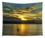 Lonely Fisherman Tapestry