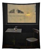 Lonely Bar Scene Tapestry