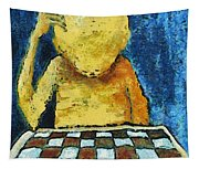 Lonesome Chess Player Tapestry