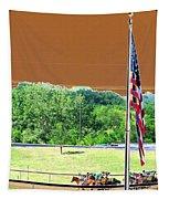 Lonestar Park - Backstretch - Photopower 2204 Tapestry