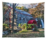 Longfellow's Wayside Inn Grist Mill In Autumn Tapestry