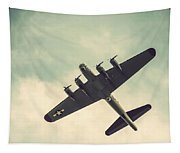 Look Up Vintage B-17 Flying Fortress Tapestry