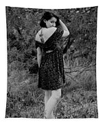 Looking Back In Black And White Tapestry