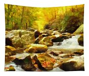 Looking Down Little River In Autumn Tapestry