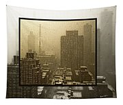 Looking Out On A Snowy Day - Nyc Tapestry