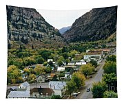 Looking Over Ouray From The Sutton Mine Trail Circa 1955 Tapestry