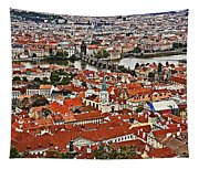 Looking Over Prague Tapestry