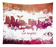 Los Angeles California Skyline Tapestry