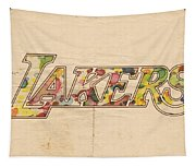 Los Angeles Lakers Logo Art Tapestry