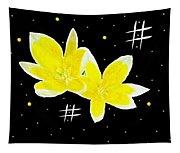 Lotus On Black Tapestry