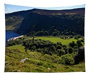 Lough Tay Below Luggala Mountain Tapestry