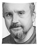 Louis Ck Portrait Tapestry by Olga Shvartsur